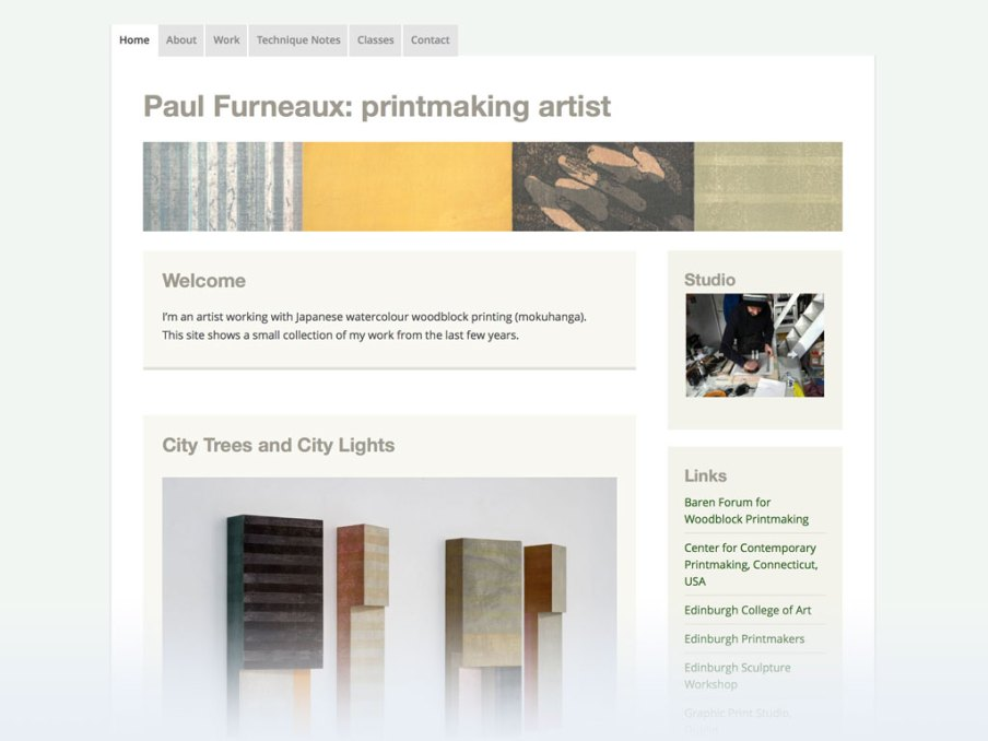 Paul Furneaux website homepage