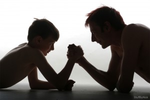 Father & Son Arm Wrestle