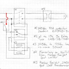Spot Welder Wiring Diagram Brain Sinus Stuff Done Right In This Version The Relay Doesn T Cut Its Own Power Supply So Once It Has Counted Down And Turned Contactor Off Stays Latched Until Trigger