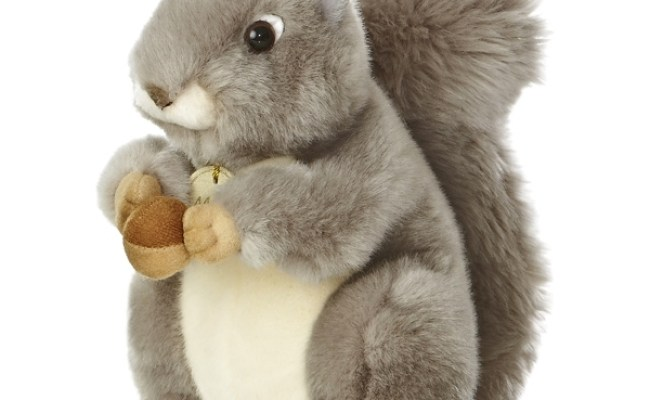 Realistic Stuffed Gray Squirrel 10 Inch Plush Animal By Aurora