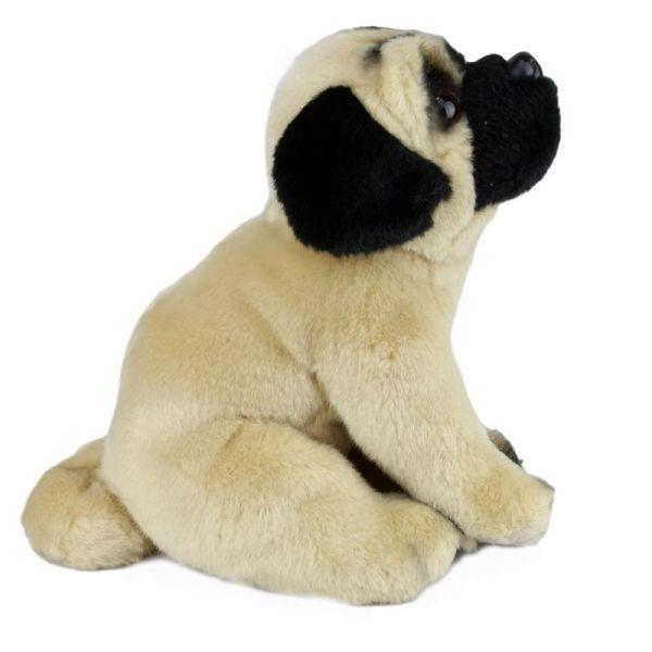 "Pug Dog Fawn Plush Toy 12"" 30cm Stuffed Animal Faithful"