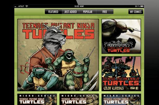 IDW & Nickelodeon Launch Teenage Mutant Ninja Turtles Comics App on