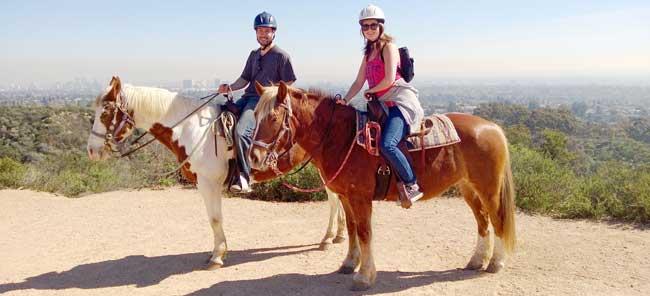 David Rodriguez and Nila on horses