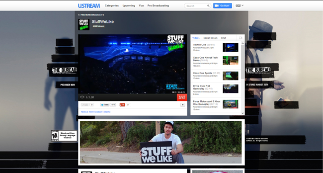 2K Games The Bureau on Ustream.tv/StuffWeLike
