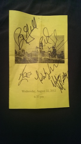 Mike & Molly autographed program