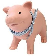 pink piggy money bank