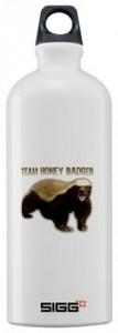 Team Honey Badger Water Bottle