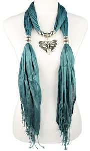 Butterfly Pendant Scarf