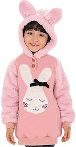 Rabbit Fleece Girls Hoodie