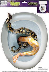 Snake fun toilet prank
