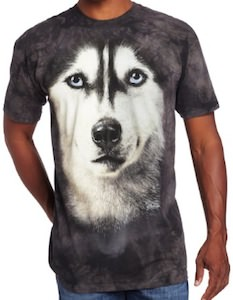 Dog T-Shirt with Husky head