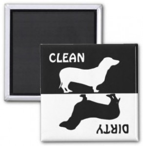Dachshund Dog Clean Dirty Dishwasher Magnet