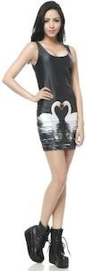 Swan tank top style dress