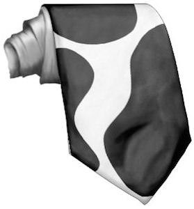 Cow Print Necktie