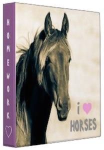 I Love Horses Binder