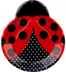 Ladybug Party Dinner Plates