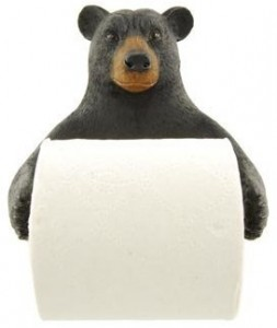 Black Bear Wall Toilet Paper Holder