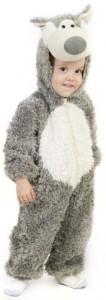 Children's Grey Wolf Costume