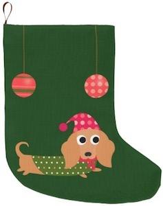 Dachshund Christmas Stocking