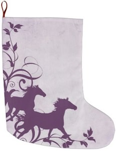 Galloping Horses Christmas Stocking