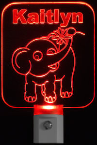 Personalized Elephant Night Light