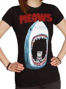 Cat in a Shark T-Shirt