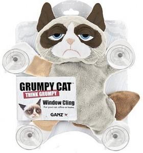 Grumpy Cat Plush Window Cling