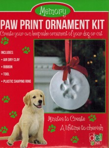 Pet Paw Print Ornament Kit