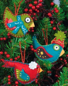 Whimsical Birds Ornaments