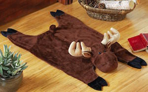 Plush Moose Rug for the kids