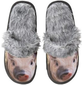 Pig Face Fuzzy Slippers