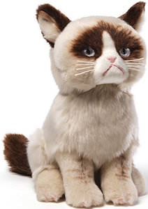 Grumpy Cat Plush Toy made by Gund