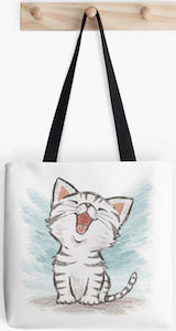 Happy Kitten Tote Bag