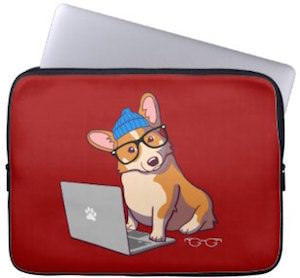 Welsh Corgi Laptop Sleeve