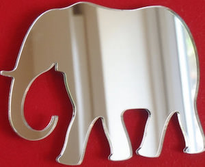 Elephant Shaped Mirror