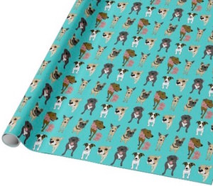Dogs On Wrapping Paper