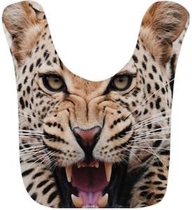 Leopard Baby Bib