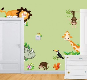 Assorted Animal Removable Wall Decal Stickers
