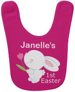Personalized First Easter Bunny Baby Bib
