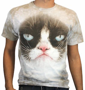 Grumpy Cat Face T-Shirt