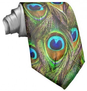 Peacock Feathers Neck Tie