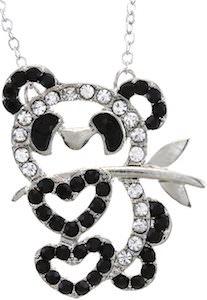 cute Rhinestone Panda Bear Necklace