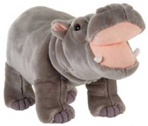 Stand Up Grey Hippo Plush