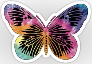 Die Cut Butterfly Sticker