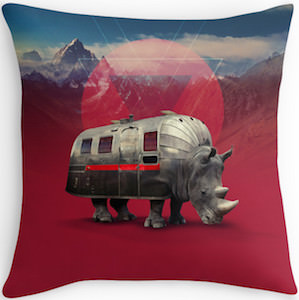 Rhinoceros Van Pillow