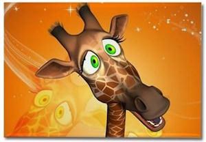Cartoon Giraffe Fridge Magnet
