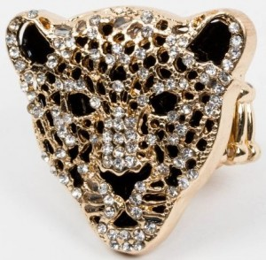 Cougar Face Gold Ring