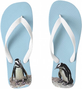 Penguin Flip Flops for men and women