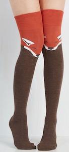 Thigh High Red Fox Women's Socks