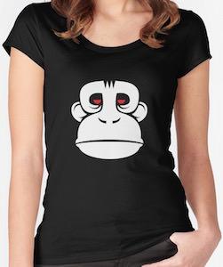 Gorilla Face Women's T-Shirt